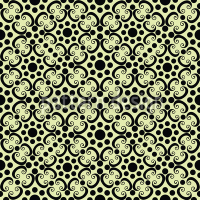 Dotted Gothic Vector Pattern