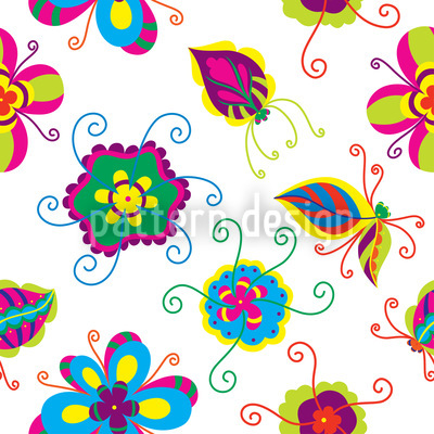 Abstract Flower Vector Pattern