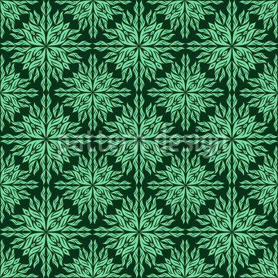 Blätterhypnose Nahtloses Vektor Muster