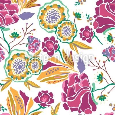 Floral Art At Daytime Pattern Design