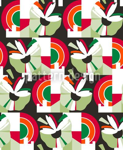 Blütenstand Grün Vektor Ornament