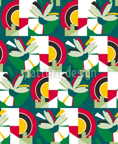 Blütenstand Mehr Grün Nahtloses Muster