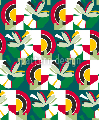 Inflorescence More Green Seamless Pattern