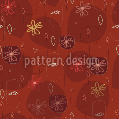 Party In Red Vector Ornament
