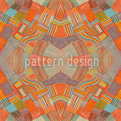 Colorful Network Seamless Pattern