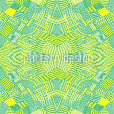Filigree Network Lemon Seamless Vector Pattern