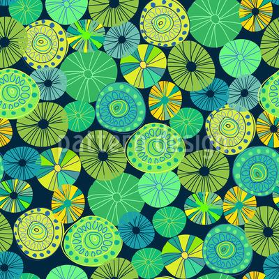 Gelbes Allerlei Vektor Muster