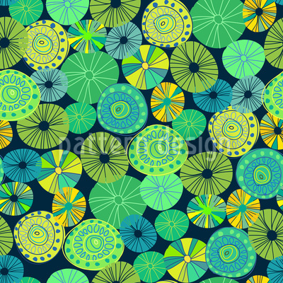 Yellow Potpourri Vector Pattern