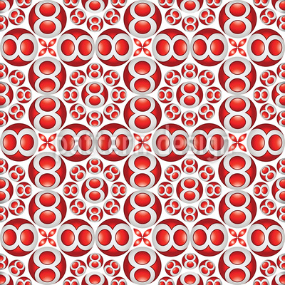 Red Balls Pattern Design
