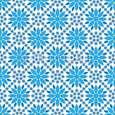 Blau Blau Blau Musterdesign