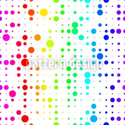 Regenbogen Confetti Gitter Muster Design