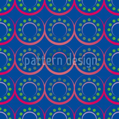 Dots N Rings Seamless Pattern