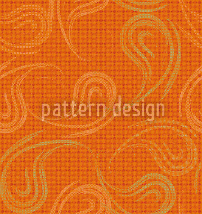 Lockere Paisleys Zimtfarbe Muster Design
