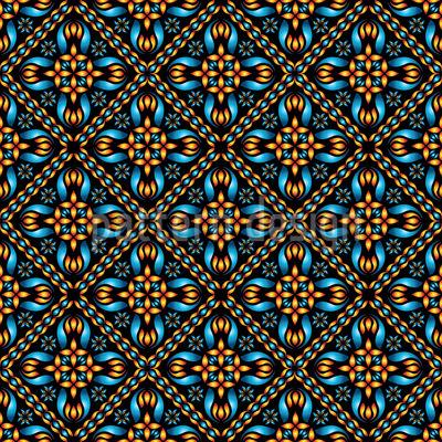 Orange And Blue Pattern Design