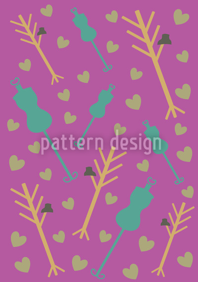 Atelier Purple Seamless Vector Pattern