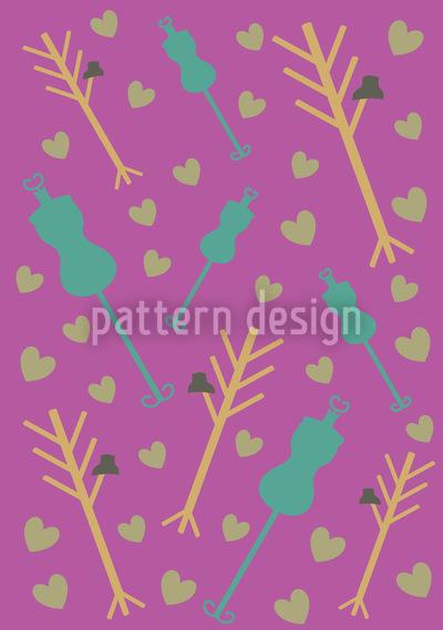 Atelier Purpur Nahtloses Vektor Muster