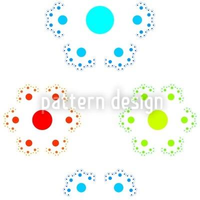 Sechsteilige Punkteblume Nahtloses Muster