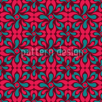 Roter Schlingel Vektor Muster