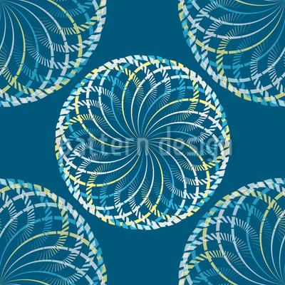Winterbälle Nahtloses Muster