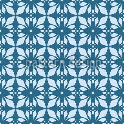 Mystischer Blauer Lotus Rapportiertes Design