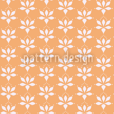 Blossom Drops Chamois Seamless Vector Pattern