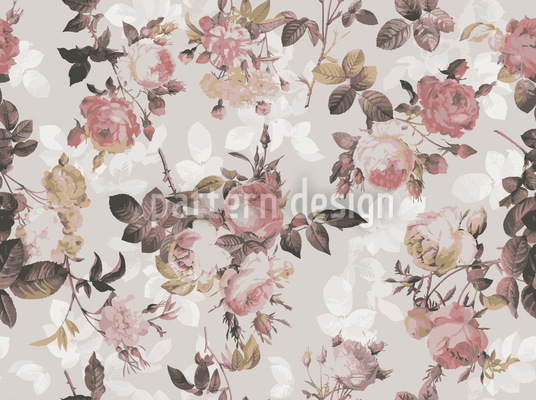 Last English Rose Seamless Vector Pattern