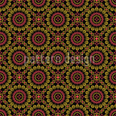 Flowers From Saint Petersburgh Seamless Vector Pattern