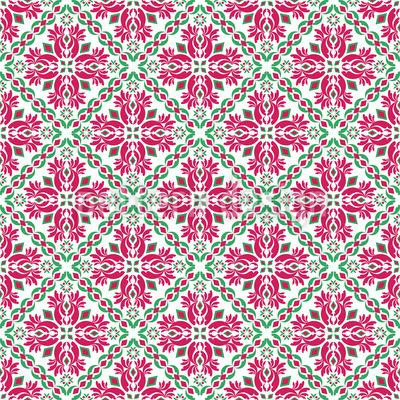 Fatimahs Garten Nahtloses Vektor Muster