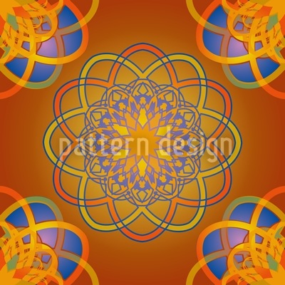 Atomic Flower Repeating Pattern