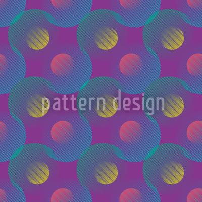 Geometrisches Wellenspiel Muster Design