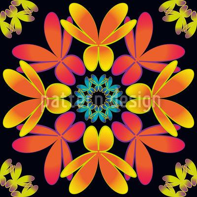 Flora Extrem Rapportiertes Design