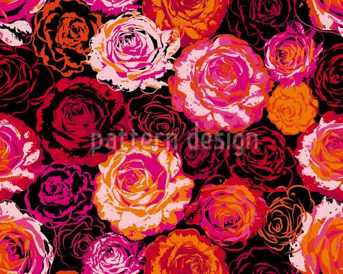 Ich Träume Von Rosen Rapportiertes Design
