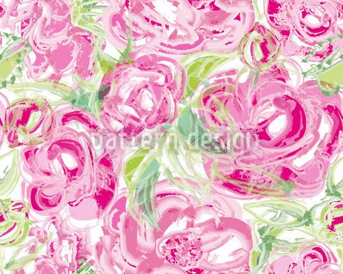 Watercolor Roses Pattern Design
