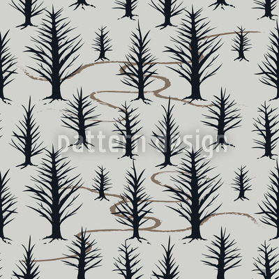 In The Winter Forest Seamless Vector Pattern