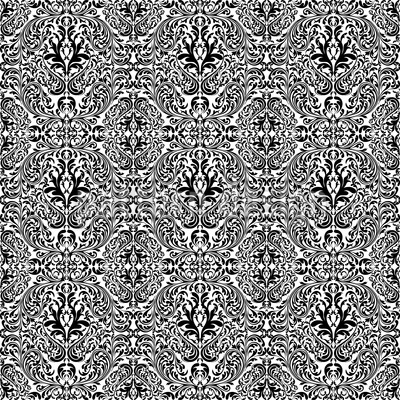 Dark Rokoko Repeating Pattern