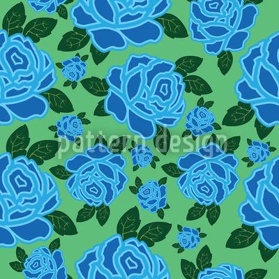 Meine Ozean Rose Nahtloses Vektor Muster