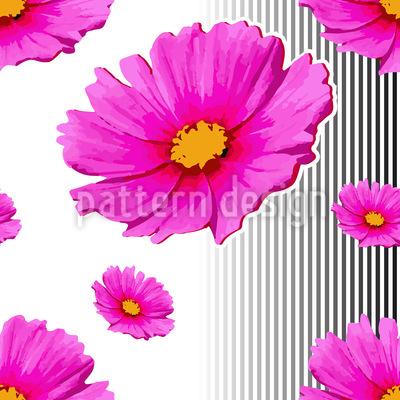 Pink Cosmea Vector Ornament
