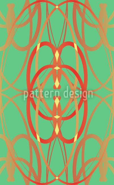 Art Nouveau Mint Seamless Pattern