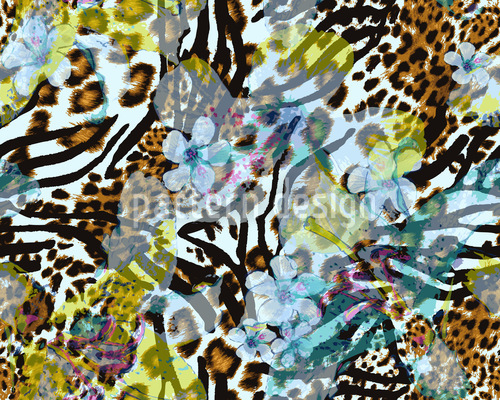 Wilde Afrolilien Musterdesign