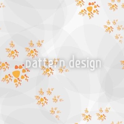 Autumn Spiral Dance Seamless Pattern