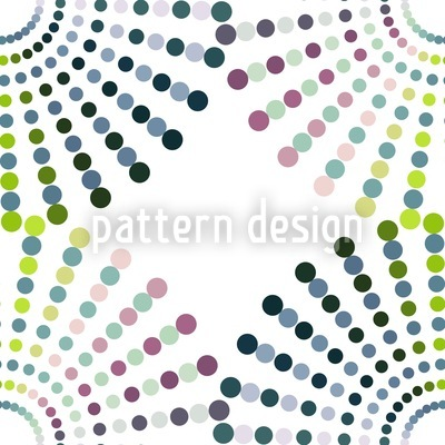 Dot Wheels Repeating Pattern