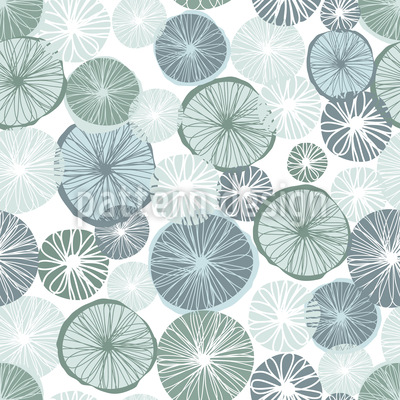 Frosty Lemon Seamless Pattern