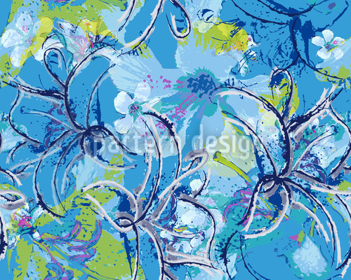 Liliana In Blau Designmuster