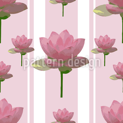 Lotus Flowers On Patrol Pattern Design