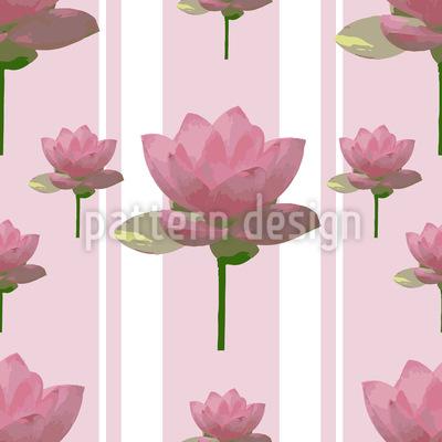 Rosa Lotusblumen Auf Patroullie Musterdesign