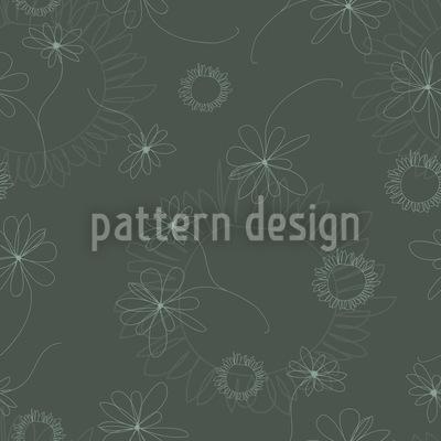 Laura Zeichnet Blumen Nahtloses Muster