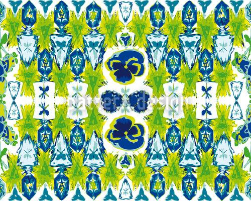 Stiefmütterchens Kristallflakons Muster Design
