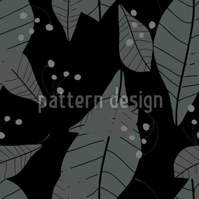Blätter Im Regen Musterdesign