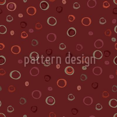 Kringel In Rot Nahtloses Vektor Muster