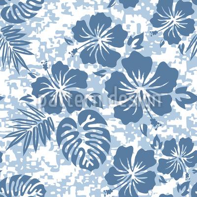 Hawaii Hibiskus Blau Vektor Design